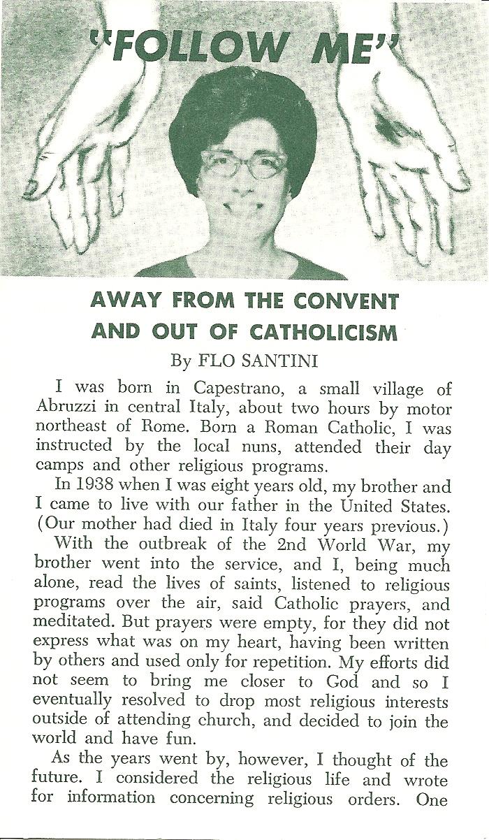 Follow Me-Convent or Christ? - Flo Santini