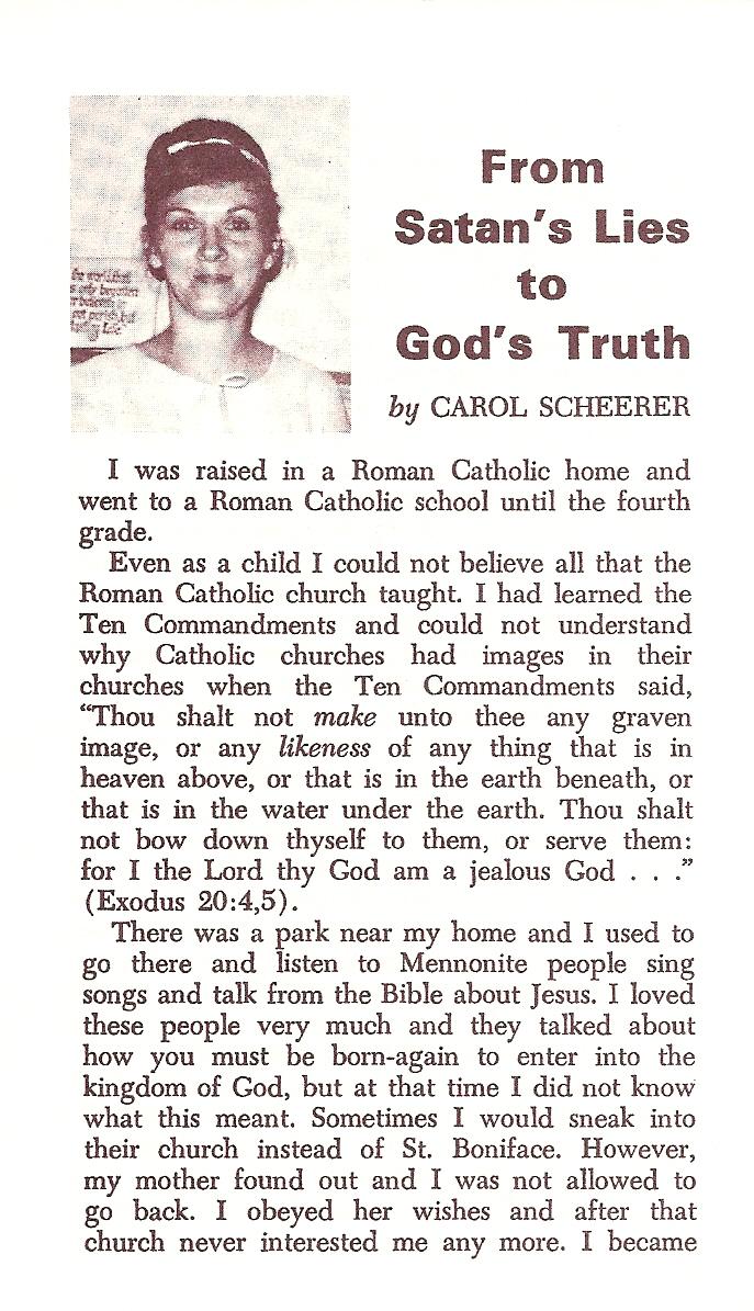 From Satan's Lies to God's Truth – Carol Scheerer
