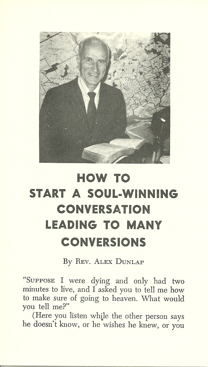 How To Start A Soul-Winning Conversation  -Alex O. Dunlap