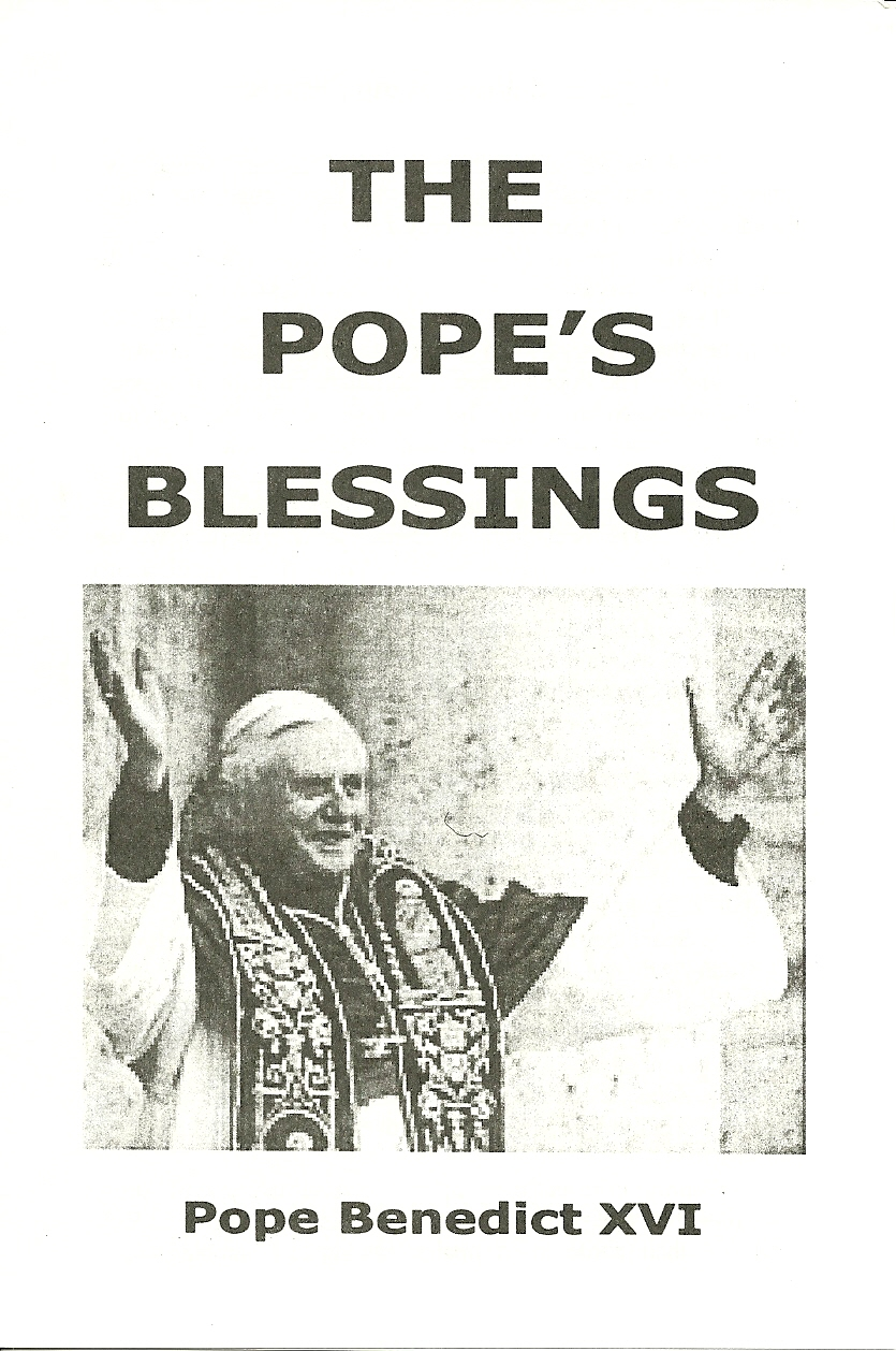 The Pope's Blessing!  Former RC Priest - Joseph Zacchello