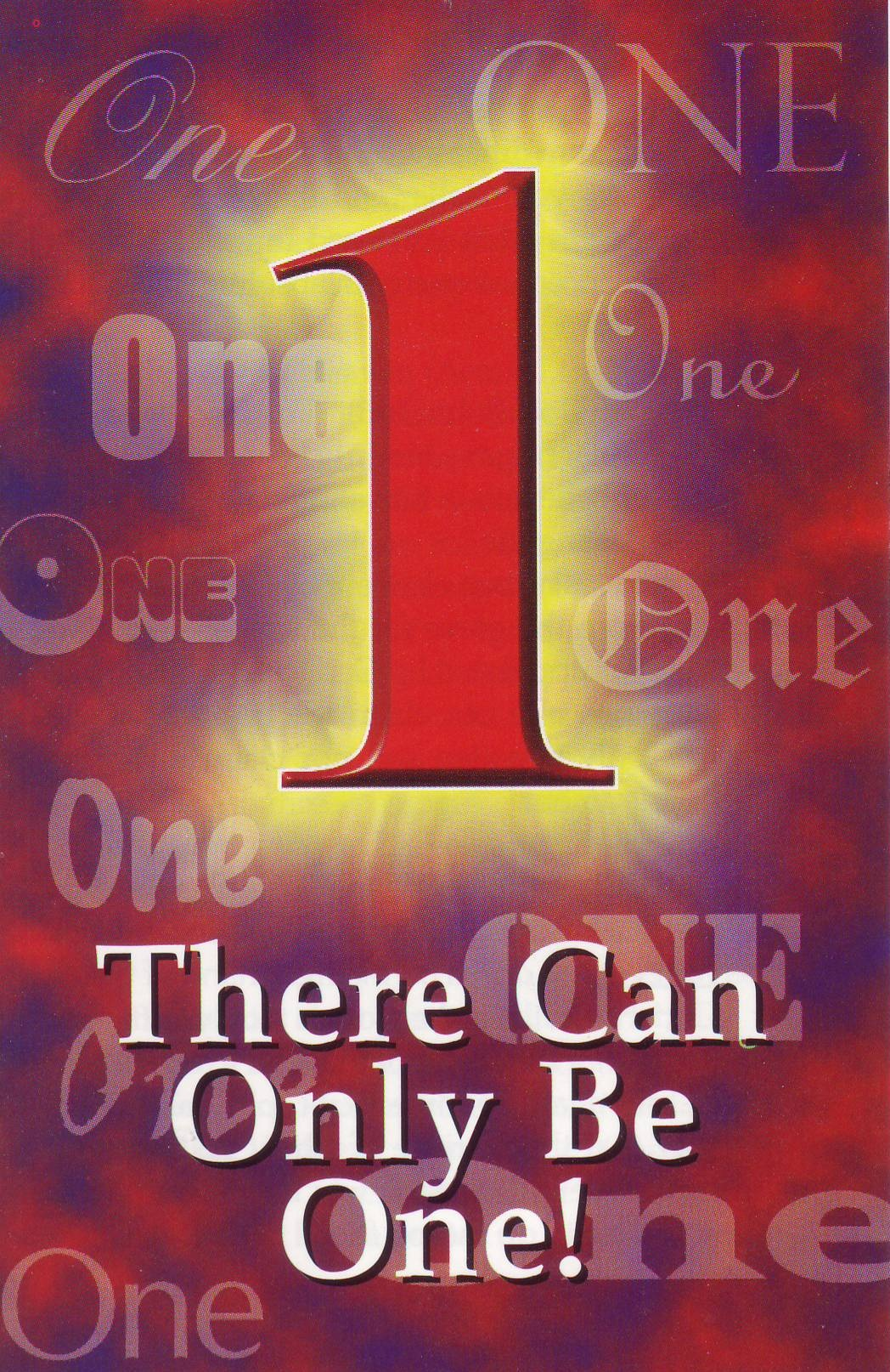 There Can Only Be One! - C. G. Johnson